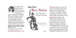Design for Rachel Rose Studios Product Labels, 2014–2015. Program Used: InDesign and hand-drawn illustrations. Notes: These are my product labels for my line of bug spray.