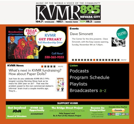Website Advertisement on the KVMR site.