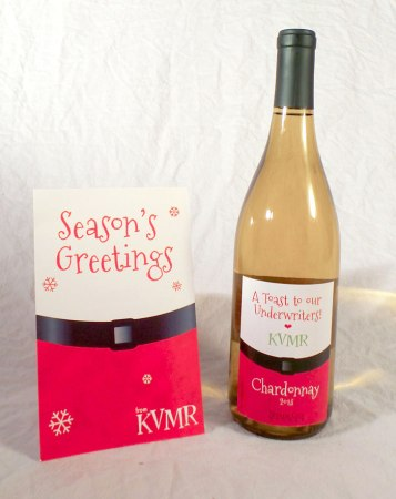 Holiday Card and Wine Label Design. Program Used: InDesign.